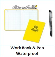 Work Book & Pen Waterproof