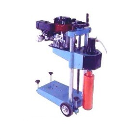 For cutting core samples from asphalt, concrete and other material on the road, run ways and structures