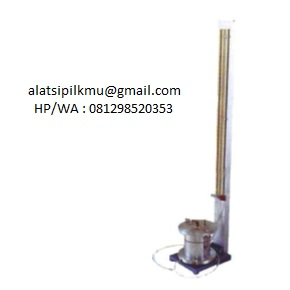 For determining coeffisient of permeability of compacted soil sample.