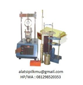 For determining the resistance to plastic flow of cylinder specimen of bituminous paving mixture loaded on the lateral surface by means of the marshall apparatus