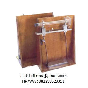 To give greater uniformity action, hand operated mounting bracket with cylinder holder, two spring steel strapes, built in counter, wooden case, supplied without graduated cylinder.