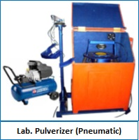 Lab. Pulverizer Pneumatic