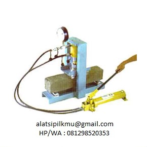 For determining the Flexural Strength of concrete beam by using a simple beam with third point loading, 100 kN capacity, hydraulic hand pump, single action, Manometer reading with maximum load pointer, red pointer